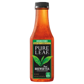 Unsweetened Black Iced Tea With Lemon Flavor