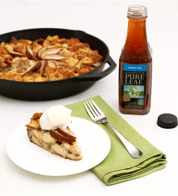 Pear Skillet Pudding with Sweet Tea