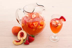 Strawberry Peach Iced Tea Punch